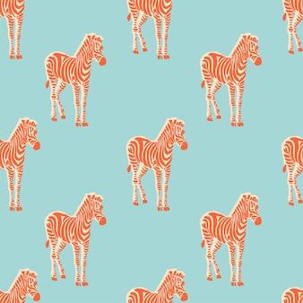 Vetor retrô neon cor ilustração zebra motivo padrão de repetição perfeita arte de arquivo digital