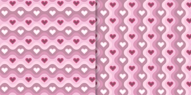 Vetor rosa amor padrão sem emenda