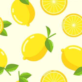 Vetor sem emenda de padrão de limão
