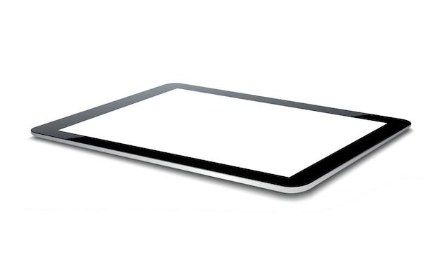 Vetor tablet pc isolado no branco.