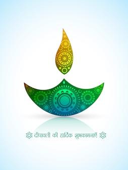 Vetor tradicional hindi festival diwali diya design