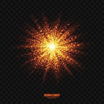Vetor transparente abstrato do efeito brilhante da explosão