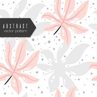 Vetor tropical de fundo - padrão abstrato sem emenda