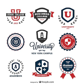 Vetor universidade logos modelos