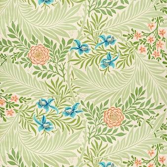 Vetor vintage padrão de flores rosa e azul