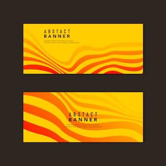 Vetores de banner abstrato amarelo e laranja