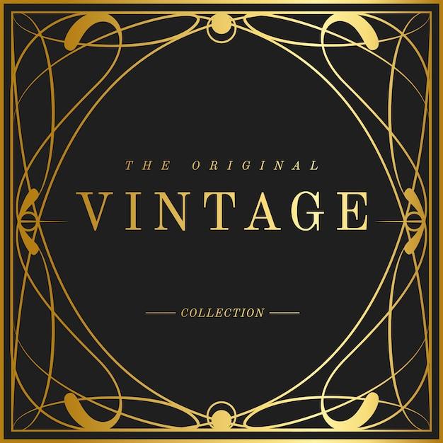Vetores de crachá de coleção art nouveau vintage