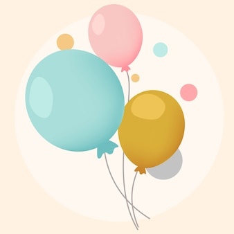 Vetores de design de balões festivos coloridos