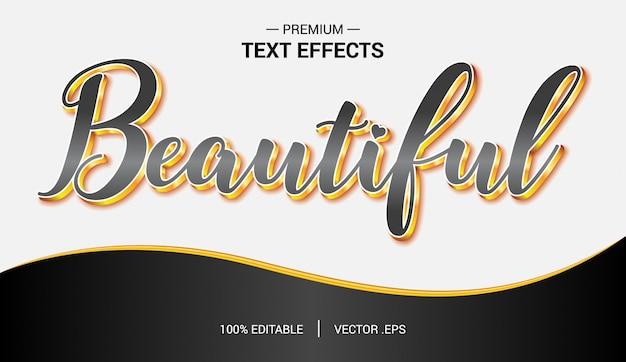 Vetores de efeito de texto bonito, conjunto elegante rosa roxo resumo efeito de texto bonito