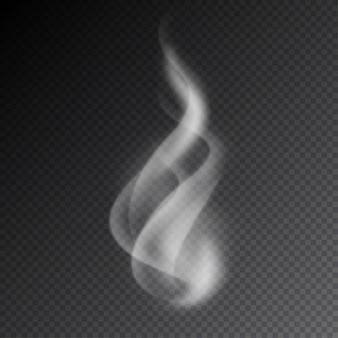 Vetores de fumaça em fundo transparente.