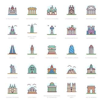 Vetores de monumentos históricos