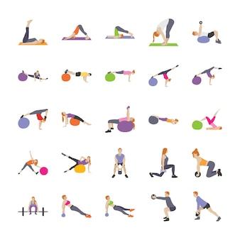Vetores planos de exercícios físicos