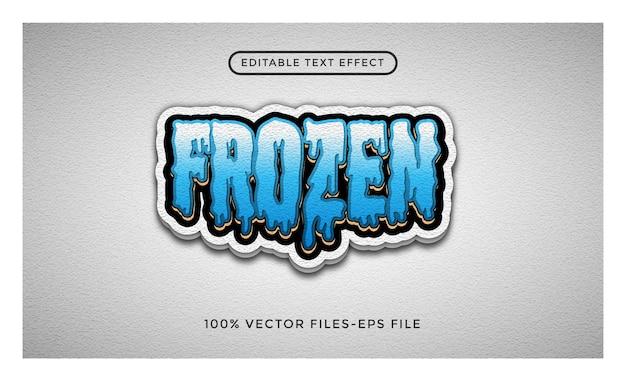 Vetores premium congelados de efeito de texto editável