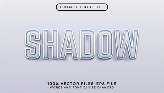 Vetores premium de efeito de texto editável de sombra