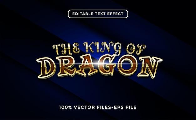 Vetores premium de efeito de texto editável do dragão