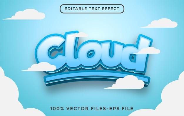 Vetores premium de efeito de texto editável em nuvem