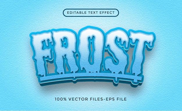 Vetores premium de efeito de texto editável frost