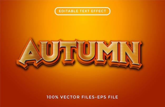 Vetores premium de efeitos de texto editáveis de outono