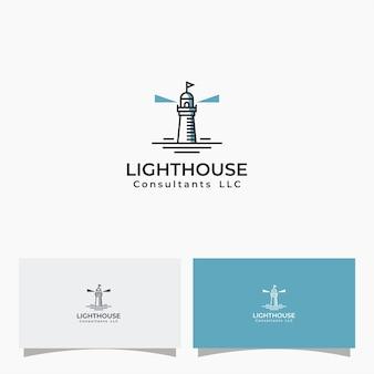 Vetores simples de design de logotipo de farol