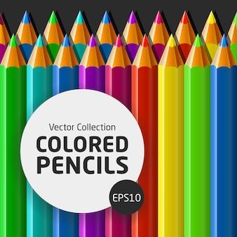 Vetorial, cobrança, de, lápis coloridos