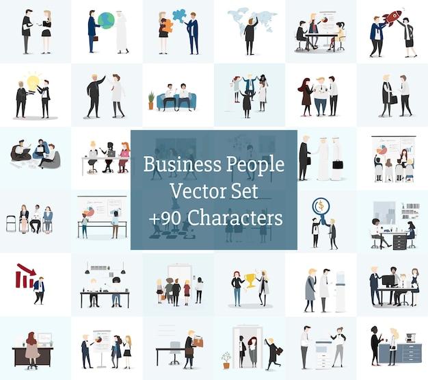 Vetorial, cobrança, de, pessoas negócio