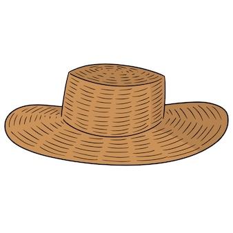 Vetorial, de, chapéu palha
