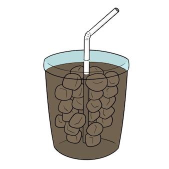 Vetorial, de, copo bebida