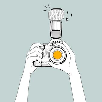 Vetorial, de, dslr, câmera