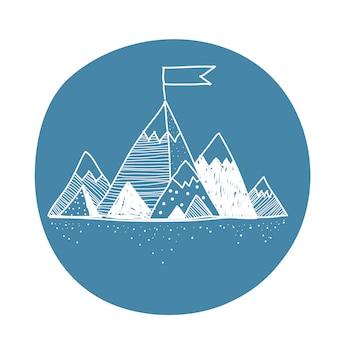 Vetorial, de, montanha
