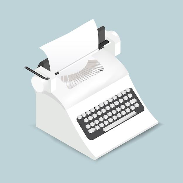 Vetorial, de, retro, máquina de escrever, ícone