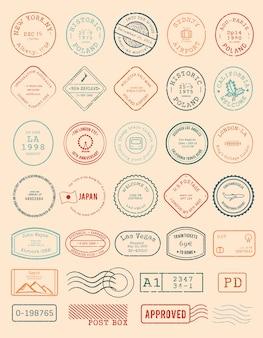 Vetorial, de, vário, selo, desenho