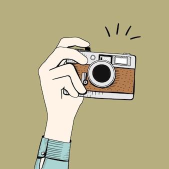 Vetorial, de, vindima, câmera