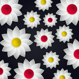 Vetorial, flores, ilustração, desenho