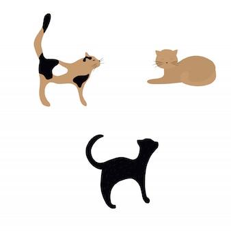 Vetorial, gato, ilustração