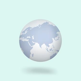 Vetorial, ícone, de, globo