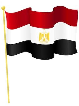 Vetorial, ilustração, de, a, bandeira nacional, de, egito