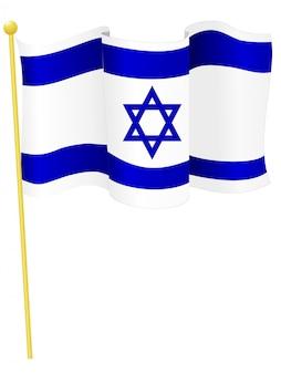 Vetorial, ilustração, de, a, bandeira nacional, de, israel