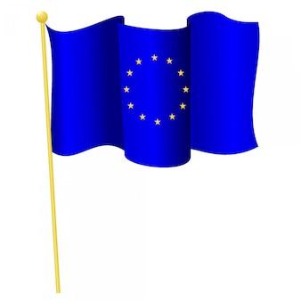 Vetorial, ilustração, de, a, bandeira nacional, de, união européia