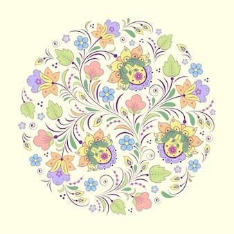Vetorial, ilustração, de, abstratos, padrão floral