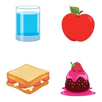 Vetorial, ilustração, de, alimento