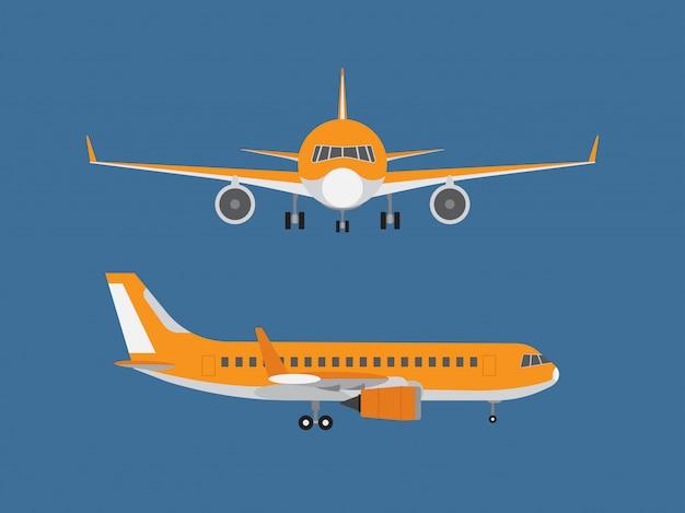 Vetorial, ilustração, de, avião