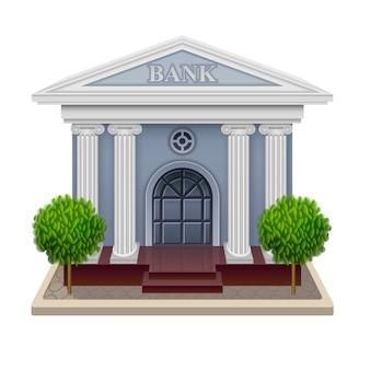 Vetorial, ilustração, de, banco