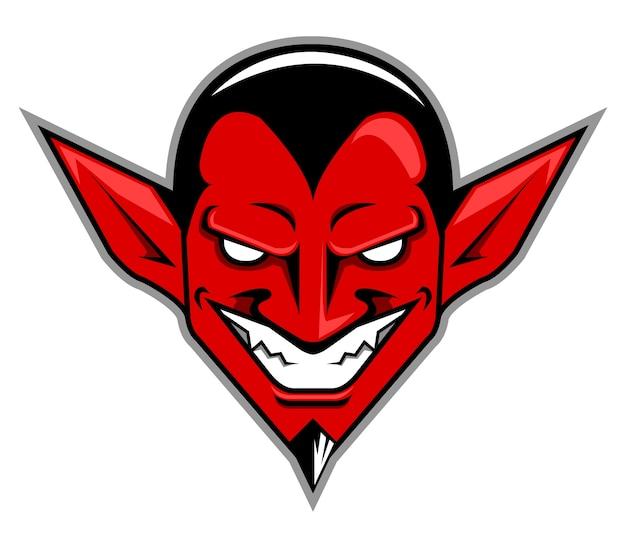 Vetorial, ilustração, de, cabeça diabo