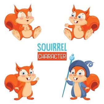 Vetorial, ilustração, de, caricatura, esquilo