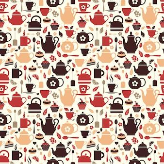 Vetorial, ilustração, de, chá