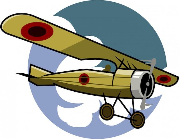 Vetorial, ilustração, de, clássicas, avião