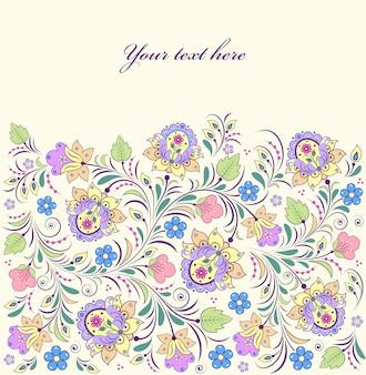 Vetorial, ilustração, de, coloridos, floral, fundo
