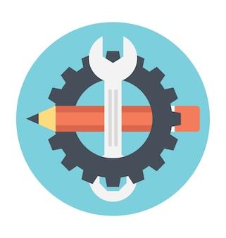 Vetorial, ilustração, de, engenharia, e, tecnologia