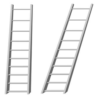 Vetorial, ilustração, de, escadas
