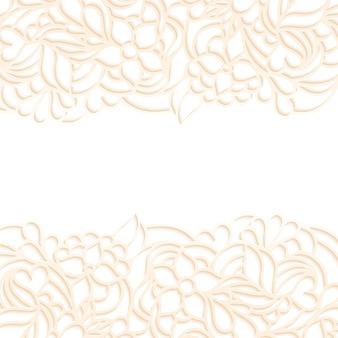 Vetorial, ilustração, de, floral, borda, branco, fundo